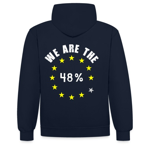 We are the 48% Hoodie - Contrast Colour Hoodie