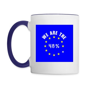 We are the 48% 2-colour mug - Contrasting Mug