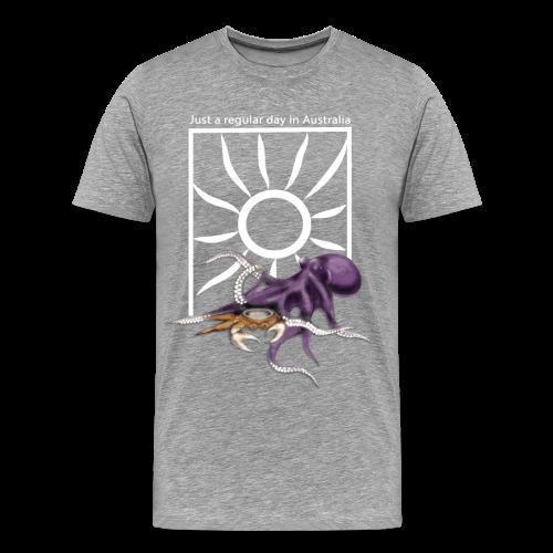 Octopus vs Crab (Men's Premium) - Men's Premium T-Shirt