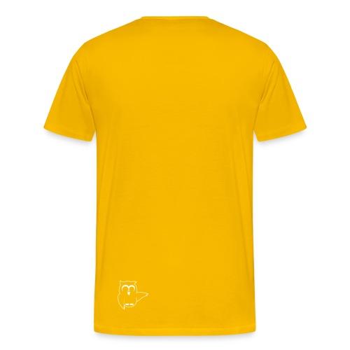 Eule Vorne und auf dem Rücken - Männer Premium T-Shirt