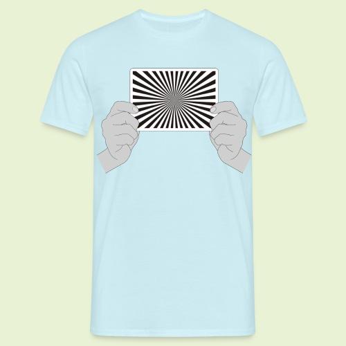 Siemensstern - handlich und praktisch (schwarz-weiß) - Männer T-Shirt