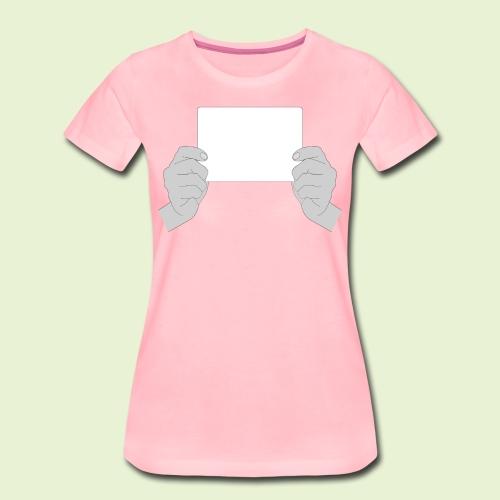 Weißabgleich - handlich und praktisch (schwarz-weiß) - Frauen Premium T-Shirt