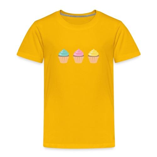 3 Little Cup Cakes - Kinder Premium T-Shirt