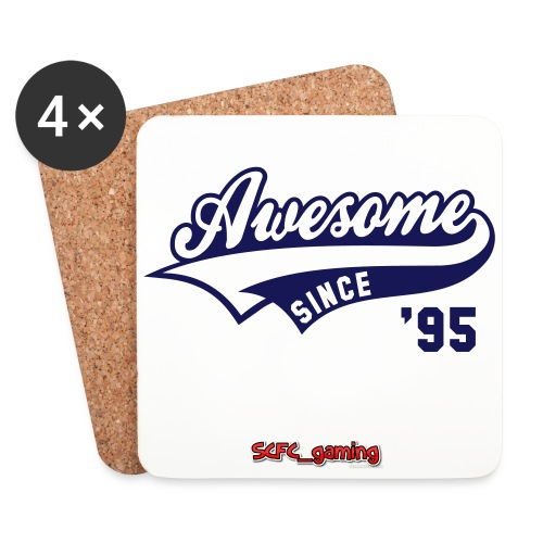 awsome since 95 coasters - Coasters (set of 4)