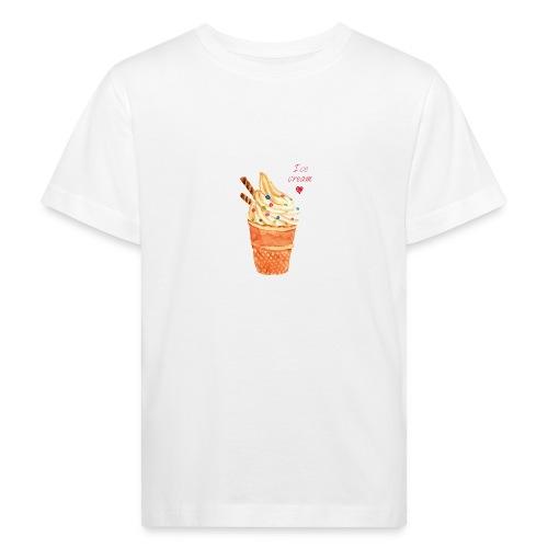 I love Icecream - Kinder Bio-T-Shirt