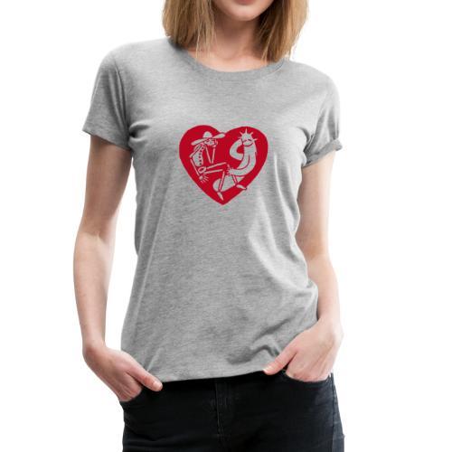 Ladie-Shirt Herz - Frauen Premium T-Shirt