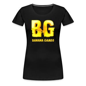 BananaGames Shirt - Zwart - Vrouwen Premium T-shirt
