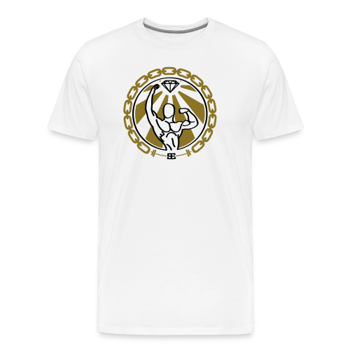 Gym Exclusive Designs Gold - Mannen Premium T-shirt