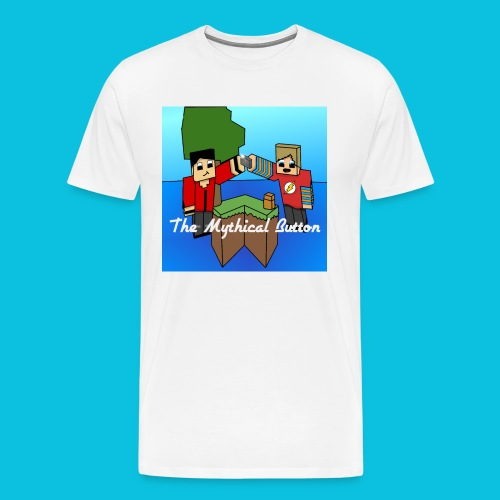 The Mythical Button T-Shirt - Men's Premium T-Shirt