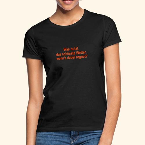 spassprediger.de presents: Wetter - Frauen T-Shirt