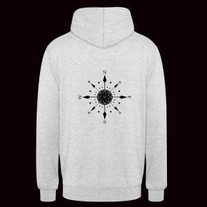 Sweatshirt Compass Grimnir White - Sweat-shirt à capuche unisexe