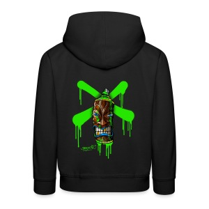 SPRAY A CROSS TIKI (green) - Kinder Premium Kapuzenpullover