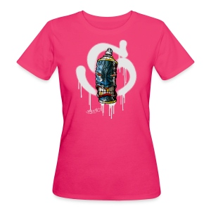 SPRAY A TIKI ( S white) - Frauen Bio-T-Shirt