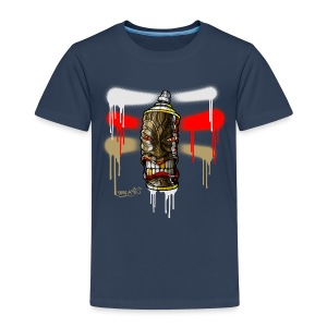 SPRAY A TIKI ( Stripes white) - Kinder Premium T-Shirt