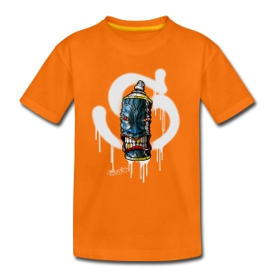 SPRAY A TIKI ( S white) - Kinder Premium T-Shirt