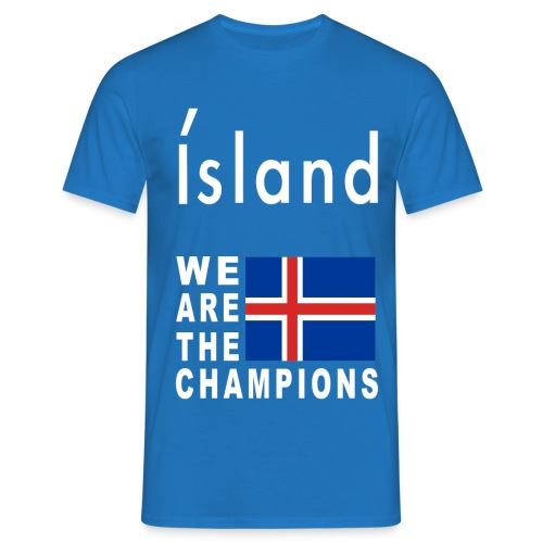 Island Fußball Champion - T-Shirt for men - Men's T-Shirt