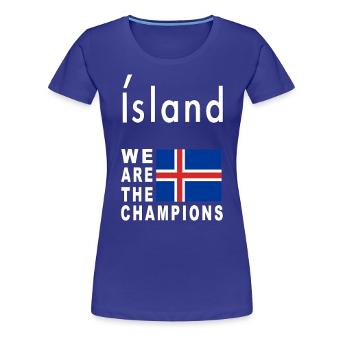 Island Fußball Champion - T-Shirt for women - Women's Premium T-Shirt