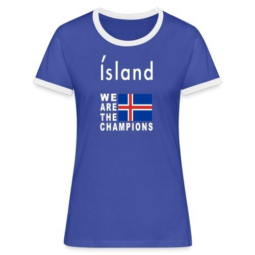 Island Fußball Champion - T-Shirt for women - Women's Ringer T-Shirt