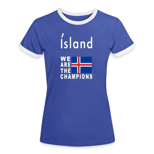 Island Fußball Champion - T-Shirt for women - Women's Ringer T-Shirt