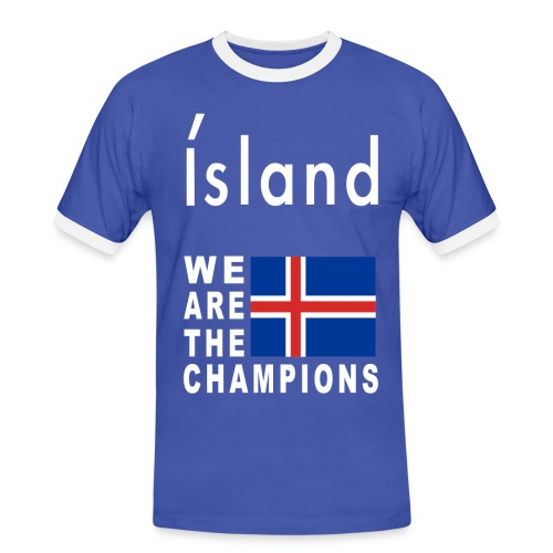 Island Fußball Champion - T-Shirt for men - Men's Ringer Shirt