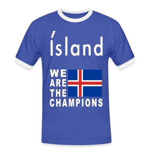 Island Fußball Champion - T-Shirt for men - Men's Ringer Shirt