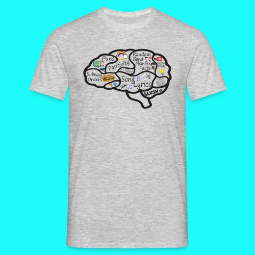 My Brain T-Shirt Mens DO NOT CHOOSE BLACK - Men's T-Shirt