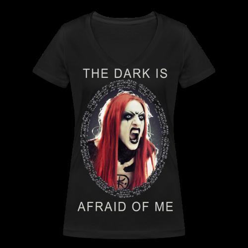 FearOfTheDark - Women's Organic V-Neck T-Shirt by Stanley & Stella