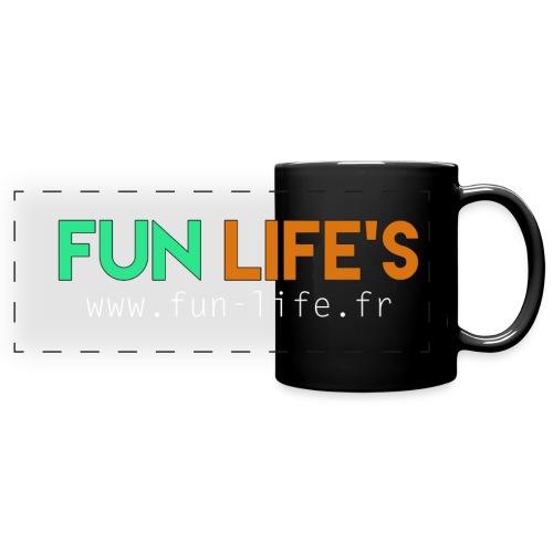 Tasse noir Fun Life's - Mug panoramique uni