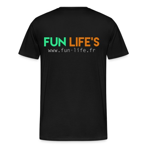 T-Shirt noir Fun Life's - T-shirt Premium Homme