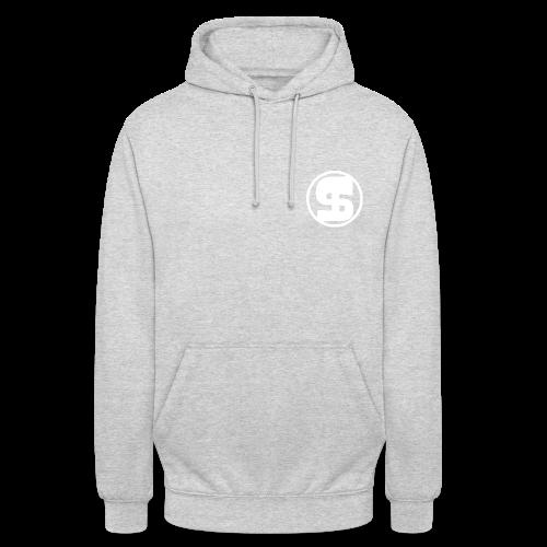 Logo borst volwassen hoodie unisex - Hoodie unisex