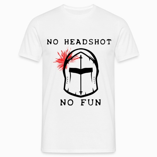 Tshirt Homme Blanc No Headshot No Fun - Tee shirt Homme