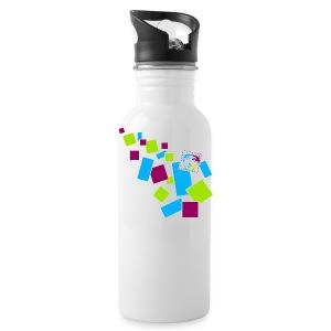 Trinkflasche im Kästchen-Design - Trinkflasche