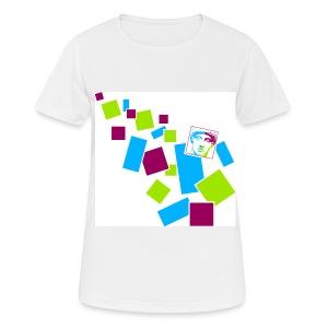 Frauen T-Shirt atmungsaktiv im Kästchen-Design - Frauen T-Shirt atmungsaktiv