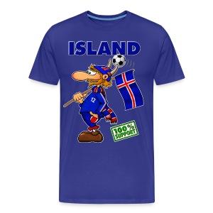 Fanshirt Island - blue - Männer Premium T-Shirt