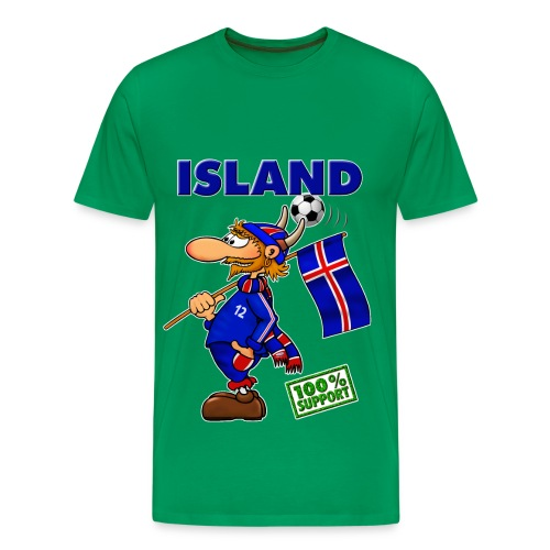 Fanshirt Island - green - Männer Premium T-Shirt