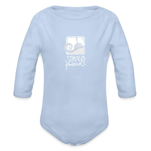 Strandputzer - Baby Langarm-Body türkis - Baby Bio-Langarm-Body