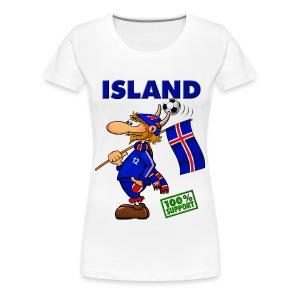 Fanshirt Island - girls, white  - Frauen Premium T-Shirt