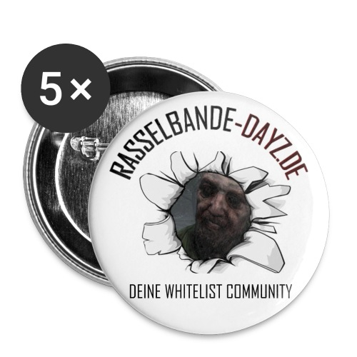 Rasselbande Button (Zombie) - Buttons groß 56 mm (5er Pack)