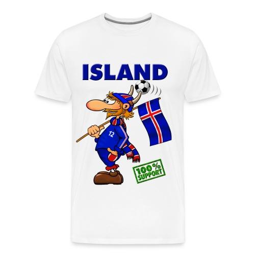 Fanshirt Island - white - Männer Premium T-Shirt