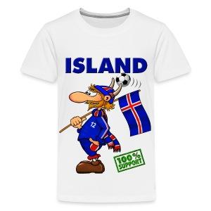 Fanshirt Island - kids, white  - Teenager Premium T-Shirt