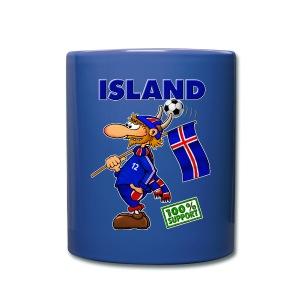 Fan Island - cup blue 12 - Tasse einfarbig