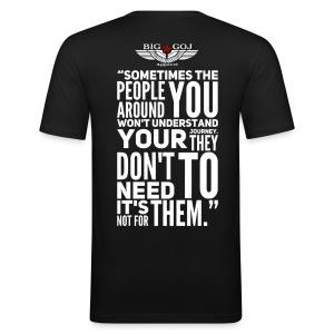 'Your Journey' BIG GOJ Black Men's close fitting T-Shirt - Men's Slim Fit T-Shirt