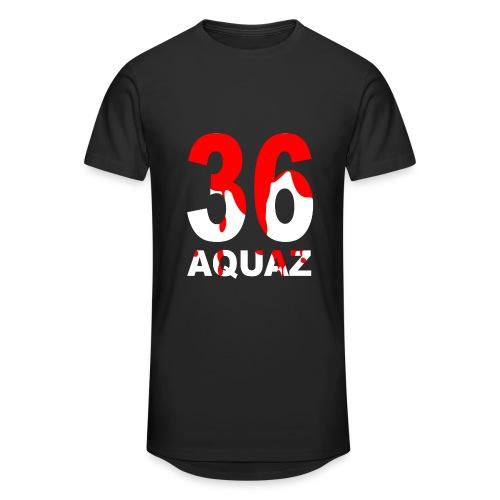 Aquaz36 Long Tee (Black)  - Unisex - Männer Urban Longshirt