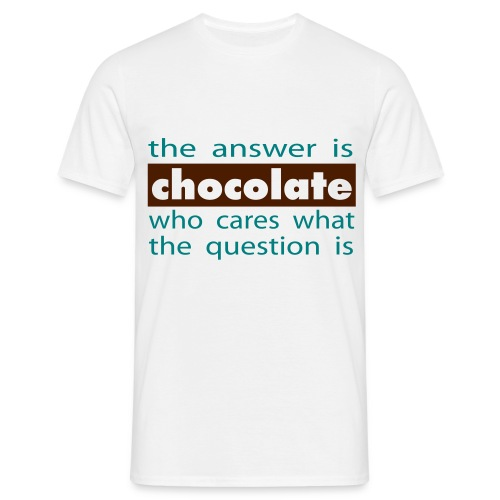 Tee shirt Homme The answer is chocolate - Men's T-Shirt
