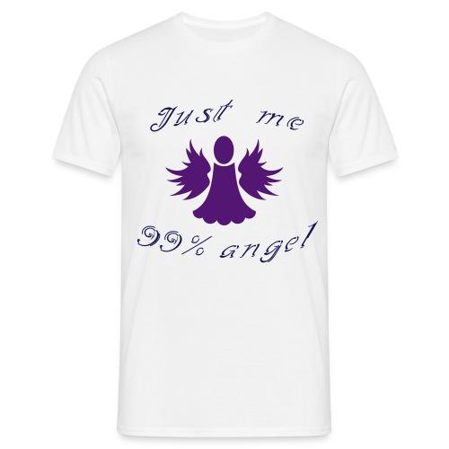 Tee shirt Homme Just me 99% angel - Men's T-Shirt