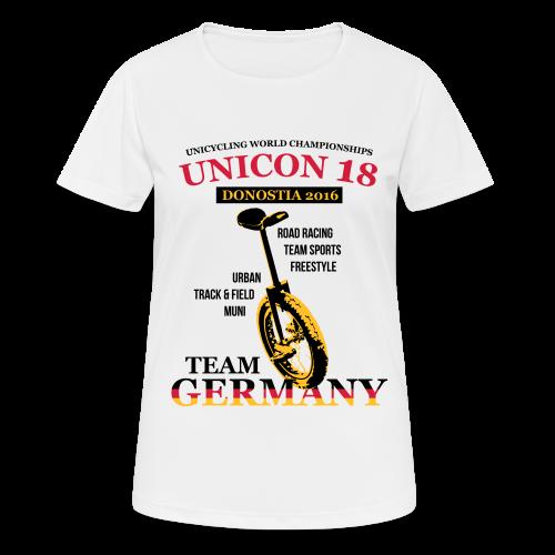 Frauen T-Shirt atmungsaktiv - Flexdruck Glatt - Frauen T-Shirt atmungsaktiv