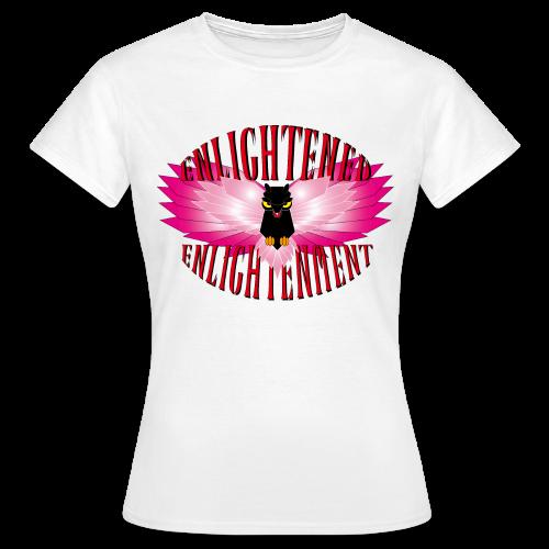 Enlightened Enlightenment - Pink Owl - Frauen T-Shirt