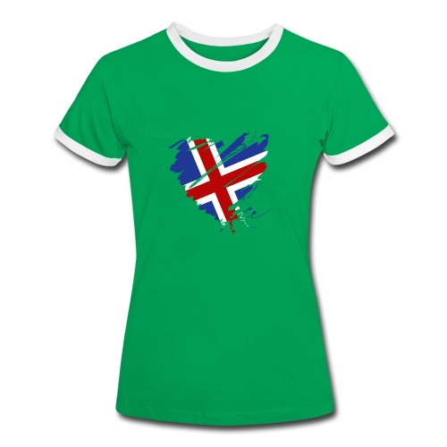 Herz Hjarta Island Ísland Reykjavík Football - Women's Ringer T-Shirt