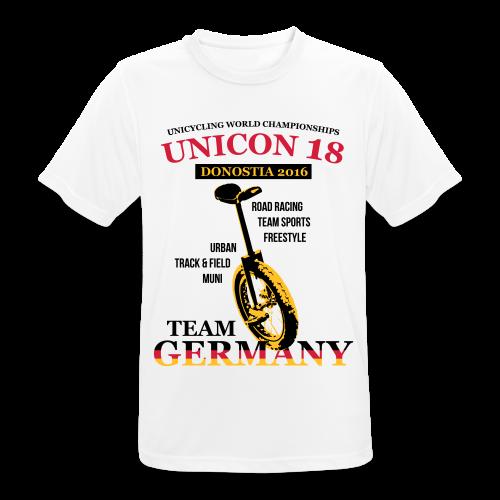 Herren T-Shirt atmungsaktiv - Flexdruck Glatt - Männer T-Shirt atmungsaktiv