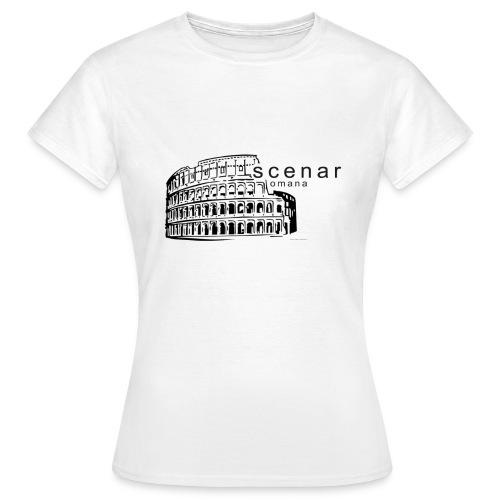 Scena Romana black (ver. bella) - Maglietta da donna